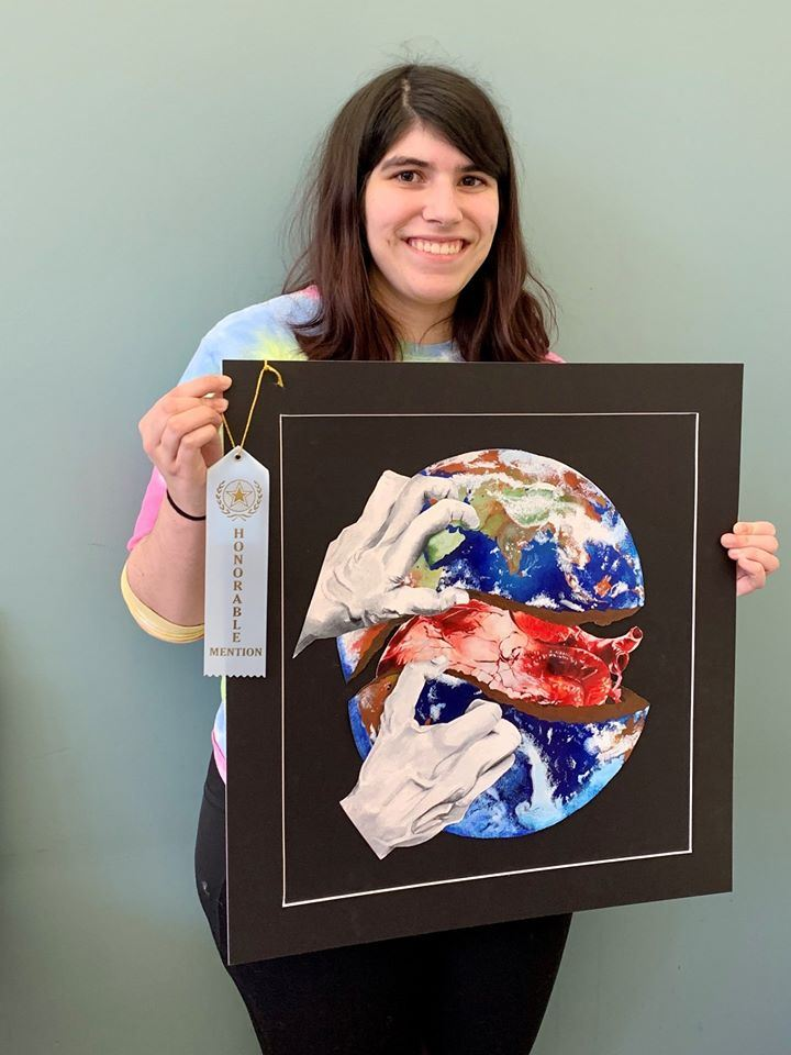 CVA Senior Wins Honorable Mention in Sister Cities Art Show