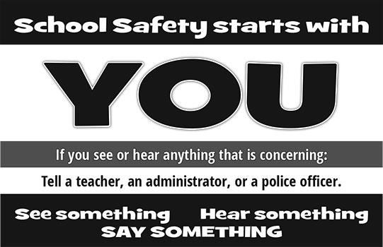 School safety starts wtih you